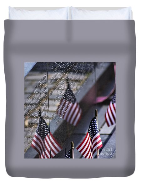 Duvet Cover featuring the photograph Memorial Day 2015 by John S