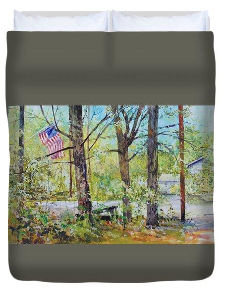 Memorial Day Flag Duvet Cover