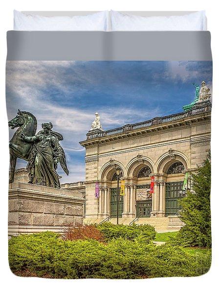Duvet Cover featuring the photograph Memorial Hall - Fairmount Park by Nick Zelinsky