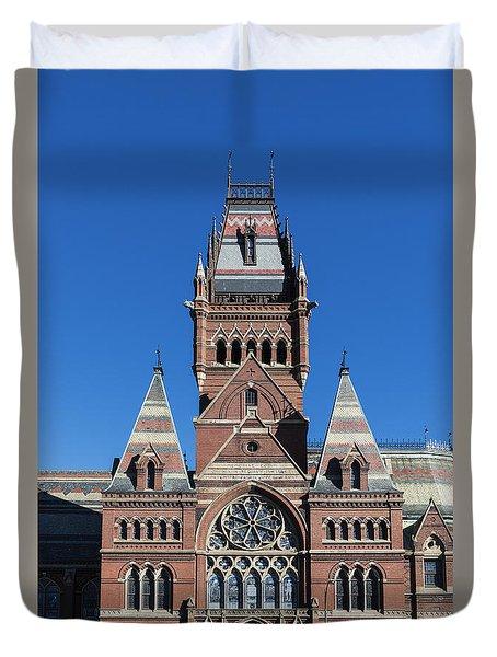 Memorial Hall Harvard Duvet Cover by John Greim