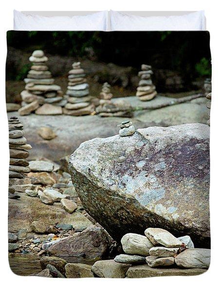 Memorial Stacked Stones Duvet Cover