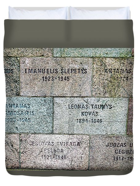 Memorial To Resistance Fighters Duvet Cover