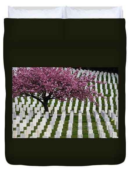 Memorial Duvet Cover by Trudy Parman