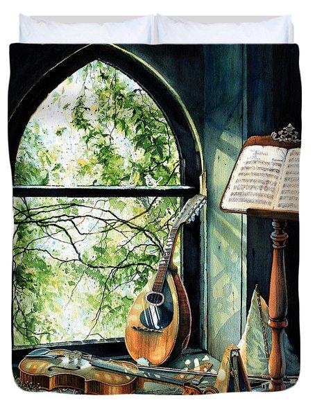 Memories And Music Duvet Cover