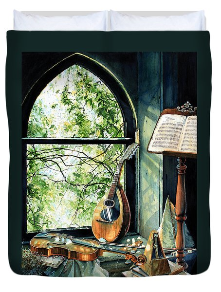 Memories And Music Duvet Cover by Hanne Lore Koehler