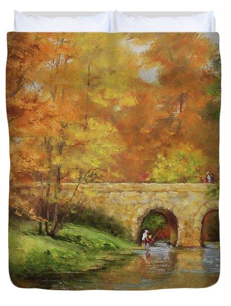 Memories At Stone Bridge Duvet Cover