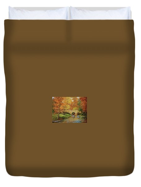 Memories At Stone Bridge Duvet Cover