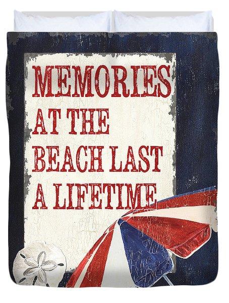 Memories At The Beach Duvet Cover