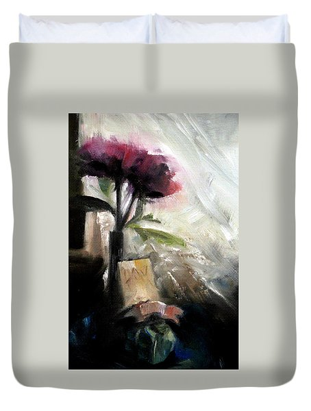 Memories In The Making Timeless Still Life Painting Duvet Cover by Michele Carter