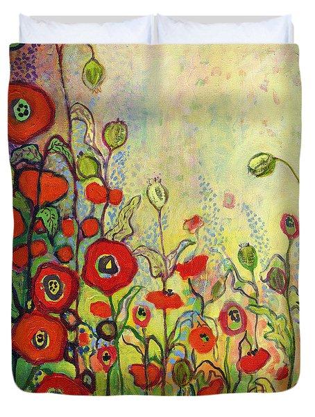 Memories Of Grandmother's Garden Duvet Cover