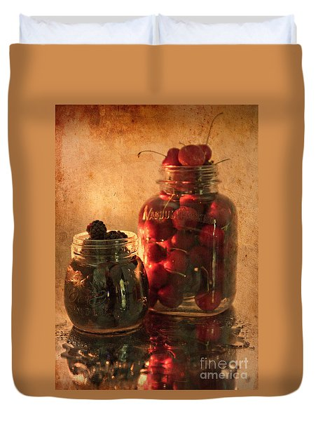 Memories Of Jams, Preserves And Jellies  Duvet Cover by Sherry Hallemeier