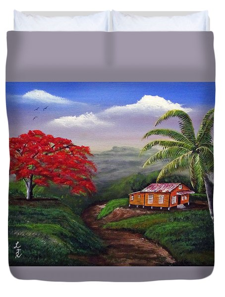 Memories Of My Island Duvet Cover by Luis F Rodriguez