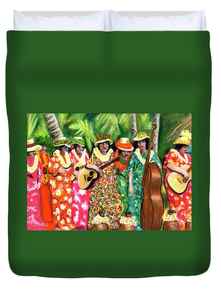 Memories Of The Kodak Hula Show At Kapiolani Park In Honolulu #20 Duvet Cover by Donald k Hall