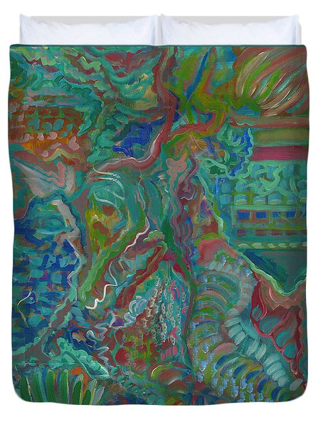 Duvet Cover featuring the painting Memories Of The Wild by John Keaton