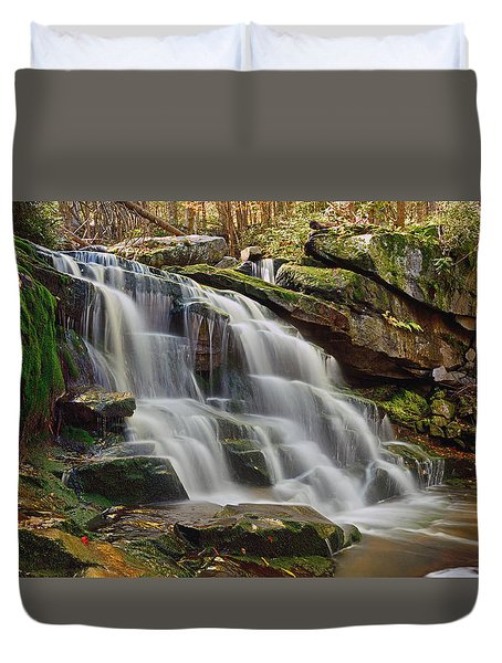 Memories Of West Virginia Duvet Cover