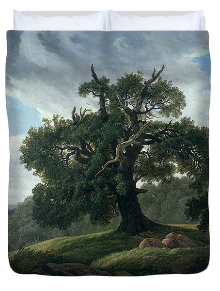 Memory Of A Wooded Island In The Baltic Sea Duvet Cover