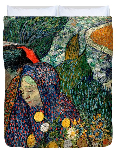 Duvet Cover featuring the painting Memory Of The Garden At Etten by Van Gogh