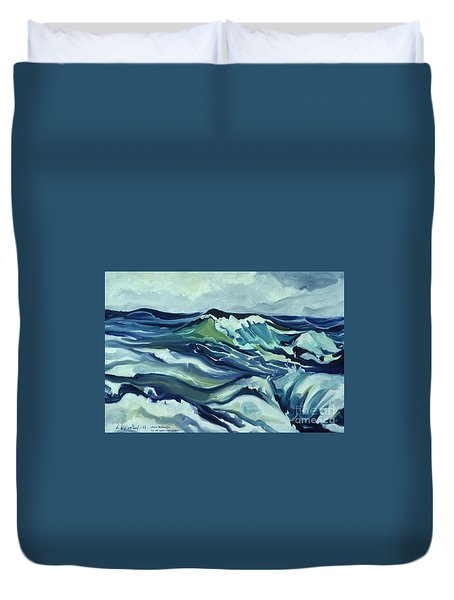 Memory Of The Ocean Duvet Cover