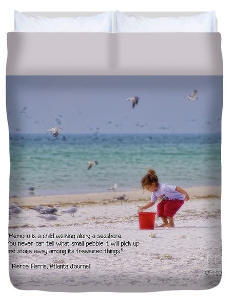 Duvet Cover featuring the photograph Memory by Peggy Hughes