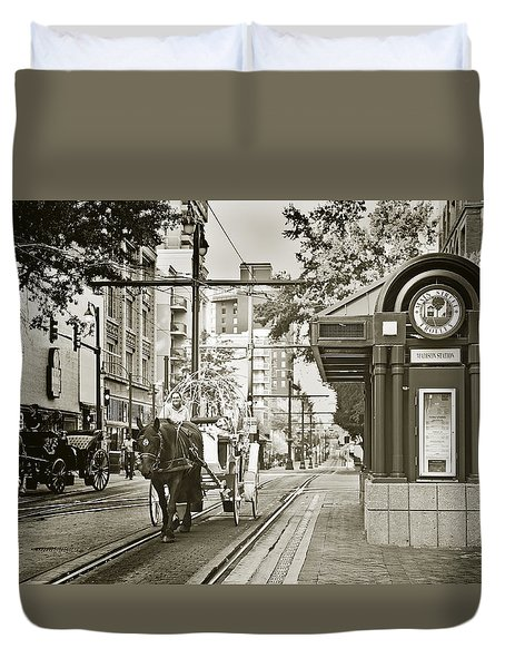 Memphis Carriage Duvet Cover
