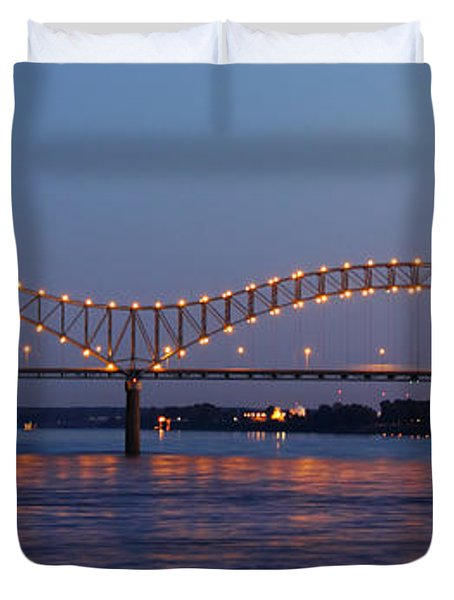 Memphis - I-40 Bridge Over The Mississippi 2 Duvet Cover