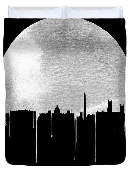 Memphis Skyline Black Duvet Cover
