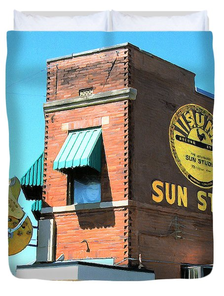 Memphis Sun Studio Birthplace Of Rock And Roll 20160215 Square Duvet Cover