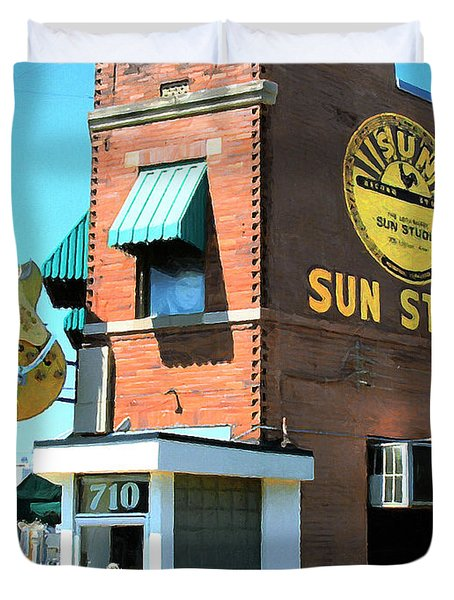 Memphis Sun Studio Birthplace Of Rock And Roll 20160215 Duvet Cover