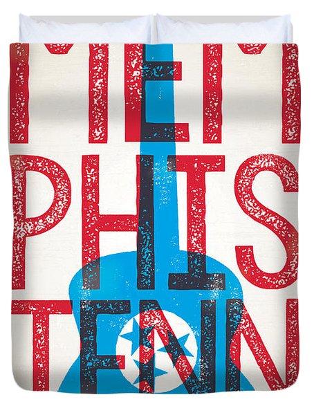 Memphis Poster - Tennessee Duvet Cover