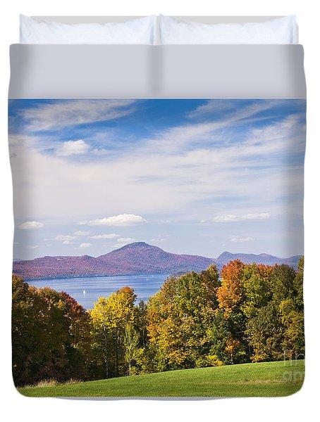 Memphremagog Autumn Duvet Cover