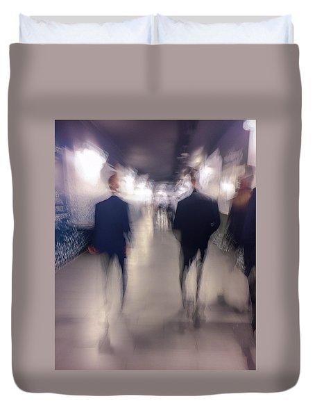 Men In Suits Duvet Cover