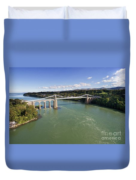 Menai Bridge 1 Duvet Cover by Steev Stamford