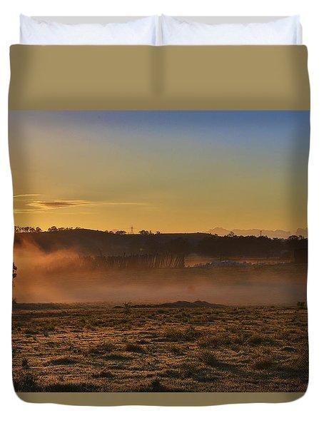 Menangle Farm Sunrise Duvet Cover