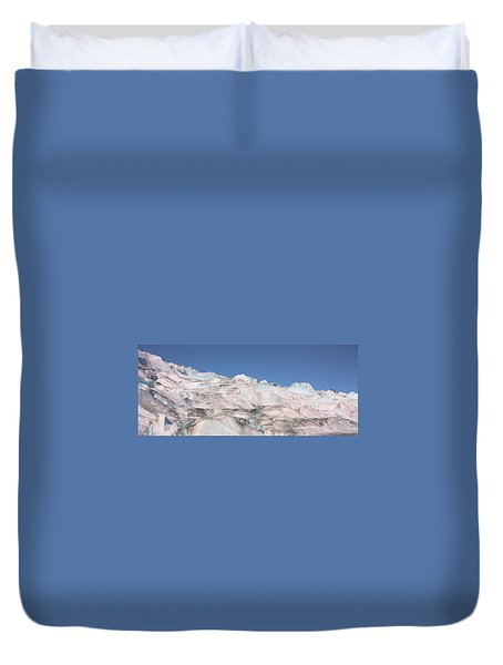 Duvet Cover featuring the photograph Mendenhall Glacier Panoramic by Kristin Elmquist