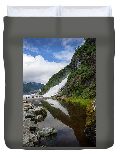 Mendenhall Waterfall Duvet Cover