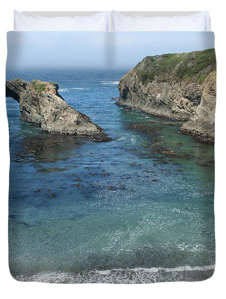 Mendicino County Viewpoint Duvet Cover by Sandra Bronstein