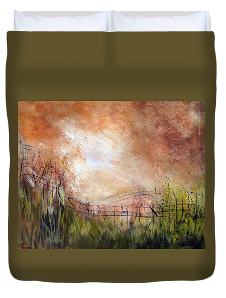Mending Fences Duvet Cover
