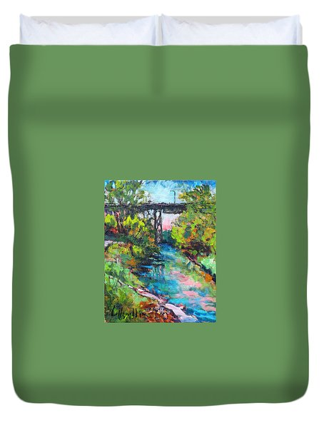 Menominee Viaduct Duvet Cover