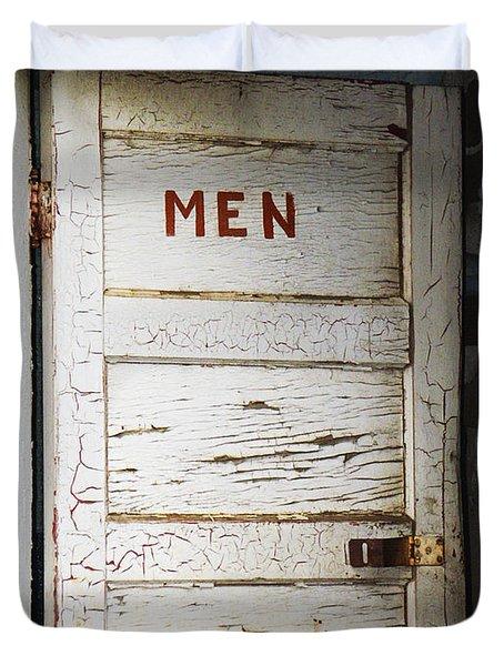 Men's Room Duvet Cover