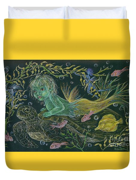 Merbaby Green Duvet Cover