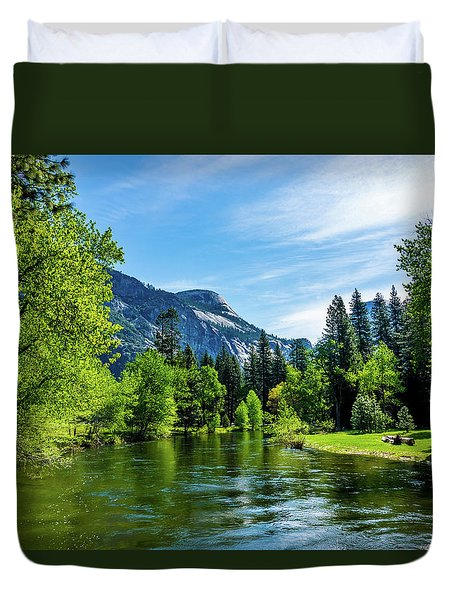 Merced River In Yosemite Valley Duvet Cover