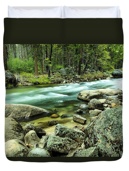 Merced River Yosemite Duvet Cover