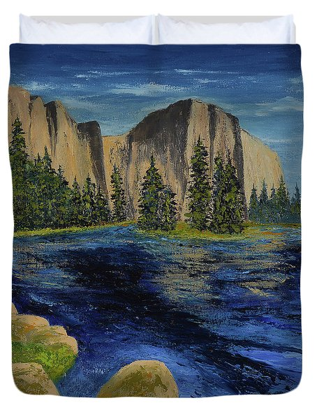 Merced River, Yosemite Park Duvet Cover