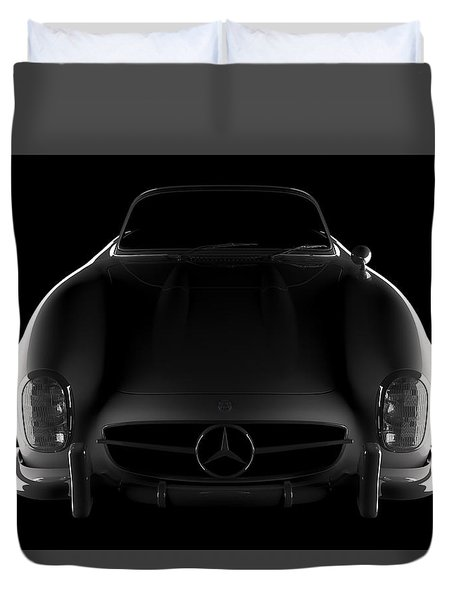 Mercedes 300 Sl Roadster - Front View Duvet Cover