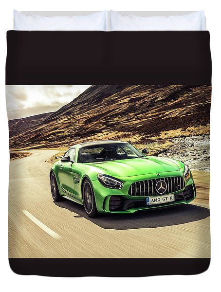 Mercedes A M G  G T  R Duvet Cover by Movie Poster Prints