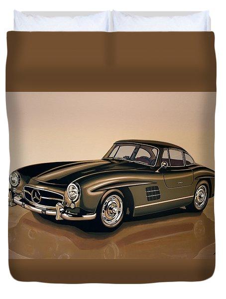 Mercedes Benz 300 Sl 1954 Painting Duvet Cover