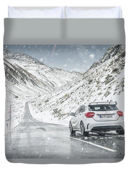 Mercedes Benz A45 Amg Snow Duvet Cover