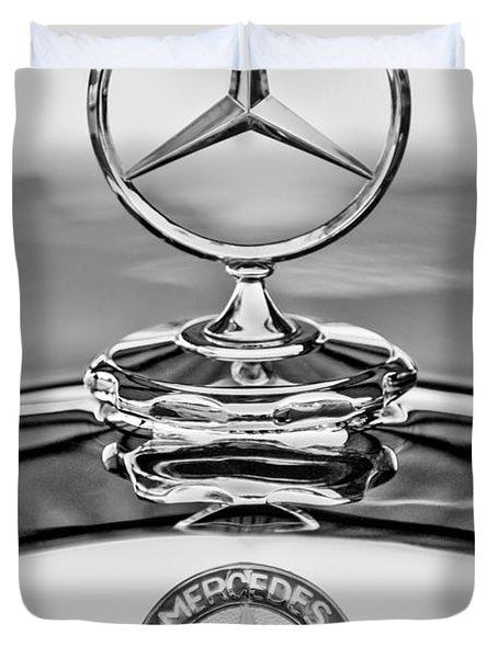 Mercedes Benz Hood Ornament 2 Duvet Cover