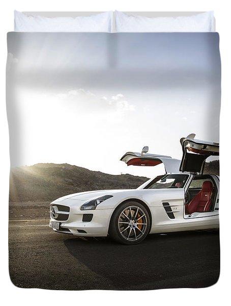 Mercedes Benz Sls Amg In Saudi Arabia Duvet Cover