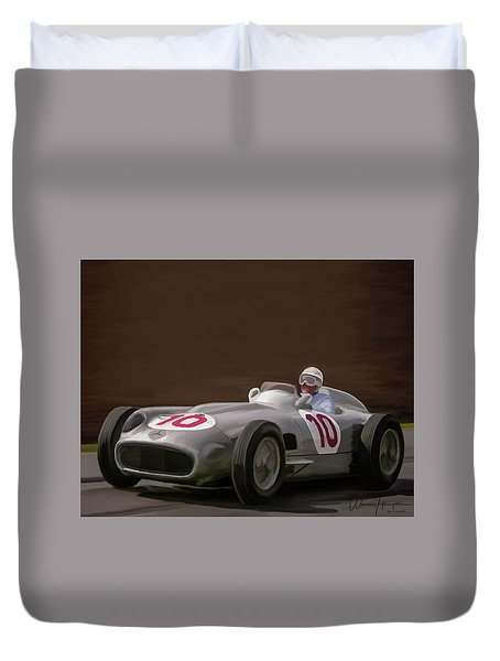 Mercedes-benz W196 Number 10 Duvet Cover by Wally Hampton